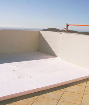 Thermal insulation of roof (terrace). Algarve, Portimão, Lagos, Lagoa, Carvoeiro, Aljezur, Sagres, Monchique, Silves, Albufeira